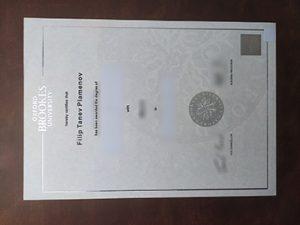 Oxford Brookes University diploma