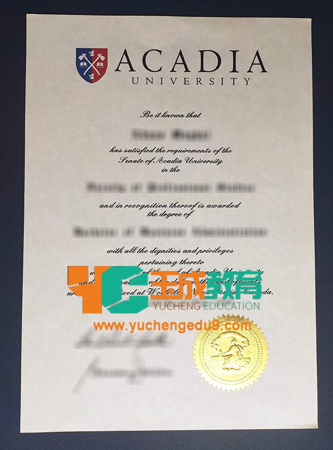 Acadia University degree