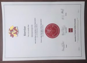 Association of Chartered Certified Accountants certificate