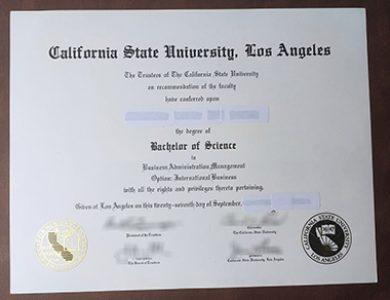 Fake California State University, Los Angeles degree 怎样购买一个假加利福尼亚州立大学洛杉矶分校学位?