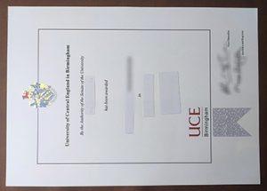 Birmingham City University diploma