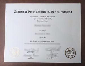 California State University, San Bernardino degree