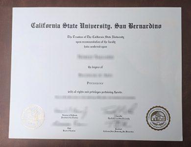 Buy California State University, San Bernardino degree. 如何获得加州州立大学圣贝纳迪诺分校学位证书?