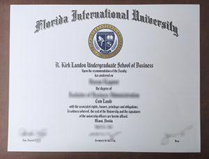 Florida International University degree