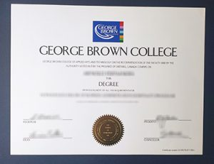 George Brown College degree