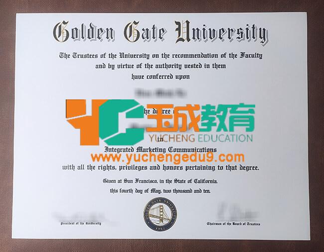 Golden Gate University degree