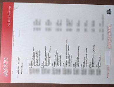 Do you need Griffith University fake academic transcript? 你需要格里菲斯大学假成绩单吗?