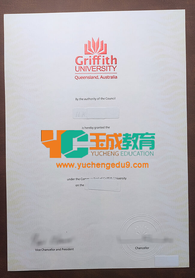 Griffith University diploma