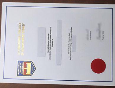 Buy International College of Management, Sydney fake diploma. 如何快速获得悉尼国际管理学院文凭?