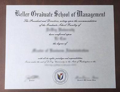 Buy Keller Graduate School of Management degree. 怎样买到凯勒管理学院学位证书?
