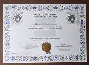Kocaeli Üniversitesi Mühendislik Fakültesi diploma