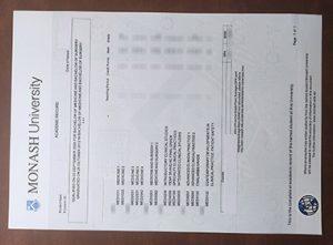 Monash University fake academic transcript