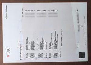 RMIT University academic transcript