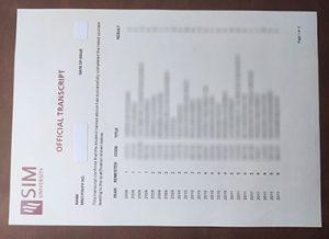 SIM University transcript