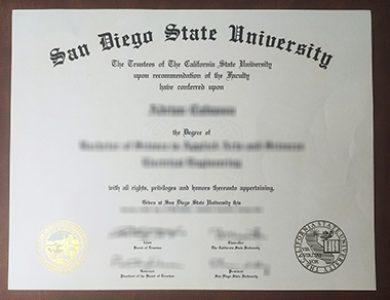 Buy San Diego State University degree. 如何获得圣地亚哥州立大学学位证书?