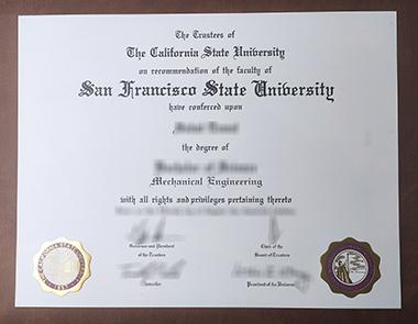 Buy San Francisco State University degree. 如何获得旧金山州立大学学位证书?