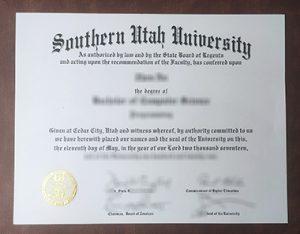 Southern Utah University degree