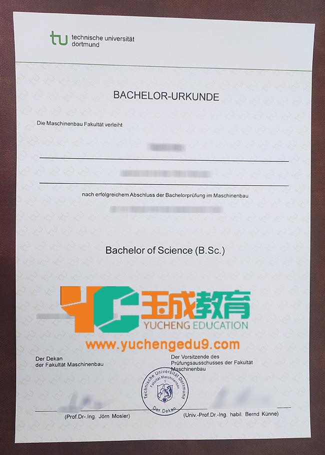 Technische Universität Dortmund certificate