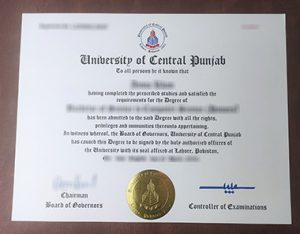 University of Central Punjab degree