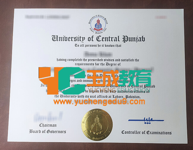 University of Central Punjab degree