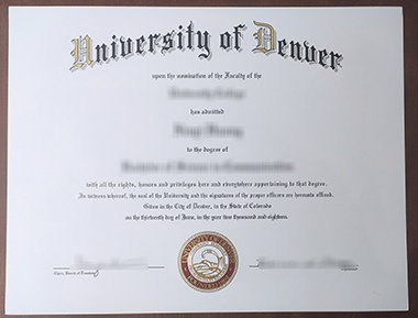 Can I buy University of Denver degree in US? 我能在美国获得丹佛大学学位吗?
