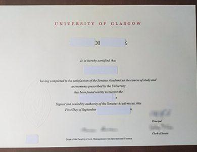 Buy fake University of Glasgow certificate. 如何快速获得格拉斯哥大学证书?