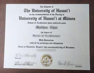 University of Hawaiʻi at Mānoa degree