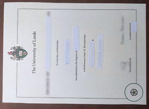 University of Leeds diploma