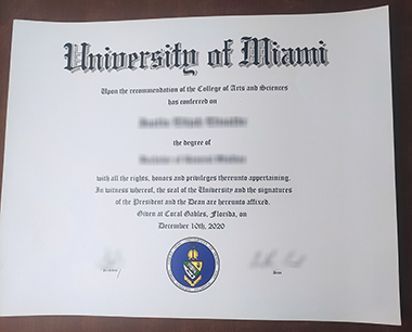 Where to buy University of Miami degree? 哪里能买到迈阿密大学学位?