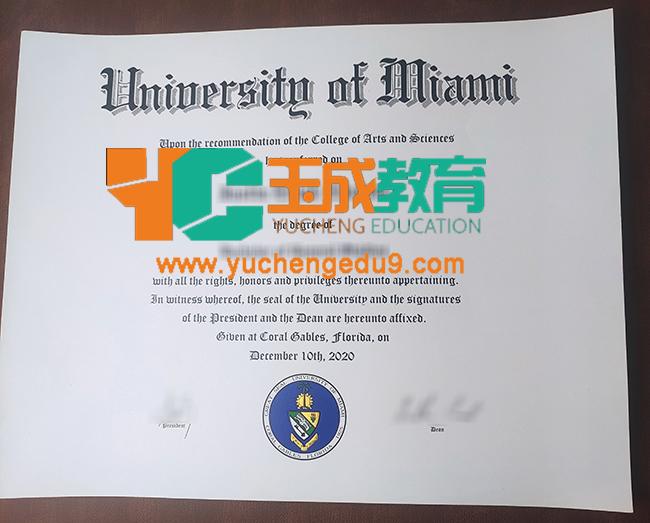 University of Miami degree