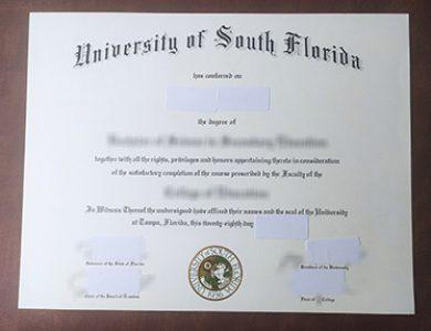 Buy University of South Florida degree, 怎样买到南佛罗里达大学学位证书?