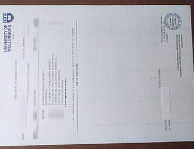 How to buy a fake University of Wollongong academic transcript?如何买到一个卧龙岗大学假文凭?