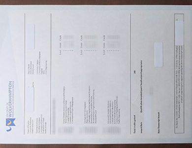 多长时间才能买到伍尔弗汉普顿大学假成绩单?