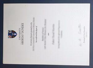 Abertay University degree