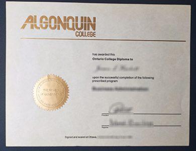 Buy Algonquin College diploma. 如何获得阿冈昆学院文凭?