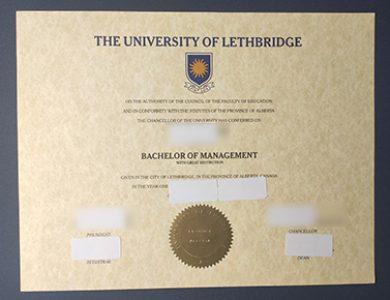 Buy University of Lethbridge diploma. 哪里能购买莱斯布里奇大学文凭?