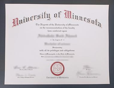 Buy University of Minnesota degree. 如何获得明尼苏达大学学位证书?