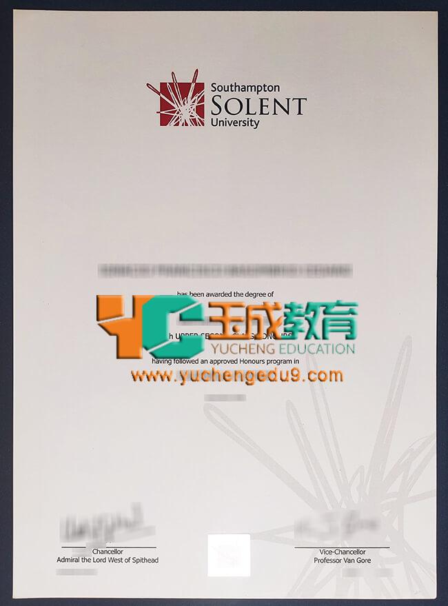 Solent University degree 索伦特大学学位证书