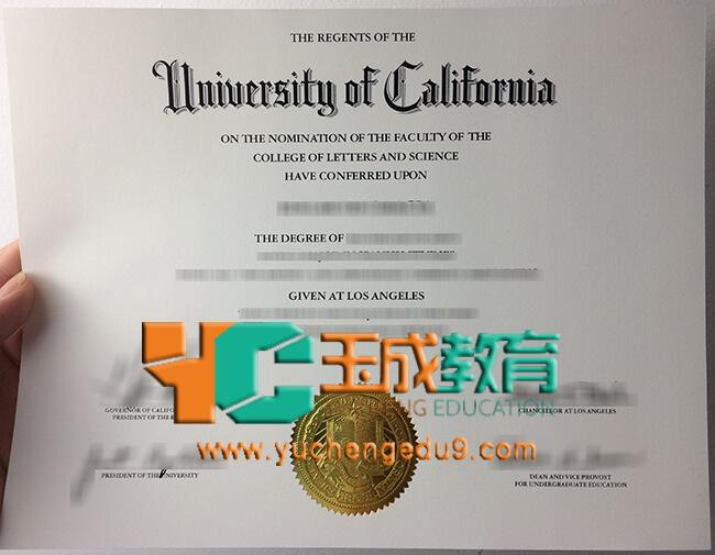 UCLA, University of California, Los Angeles degree 加州大学洛杉矶分校学位