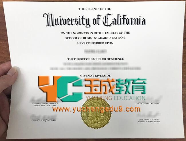 UCR, University of California, Riverside degree 加州大学河滨分校UCR学位证书
