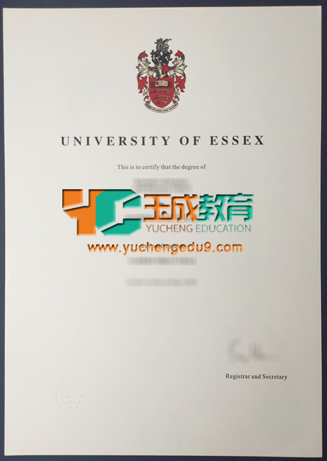 University of Essex certificate