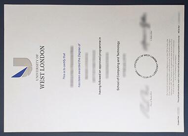 Where to get fake University of West London certificate in UK? 如何获得西伦敦大学UWL证书?