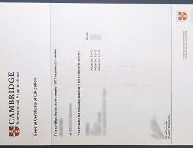 How to get a fake Cambridge Assessment International Education certificate? 快速获得剑桥评估国际教育证书