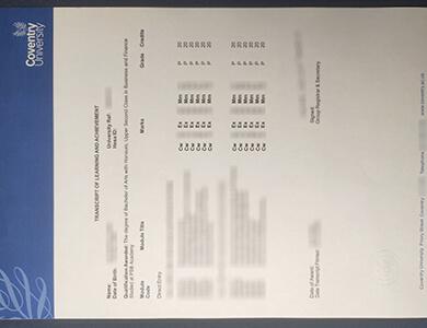 Where to get a fake Coventry University transcript in UK? 快速获得文垂大学成绩单