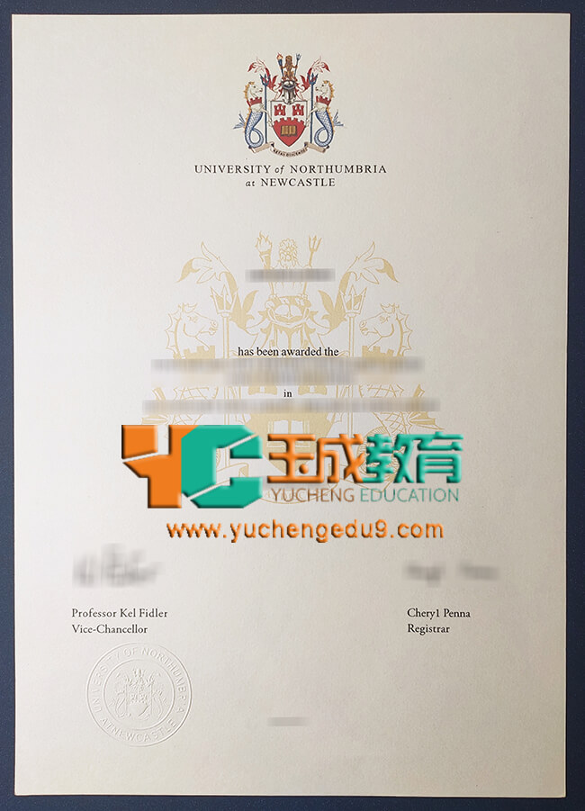 Northumbria University certificate 诺桑比亚大学证书