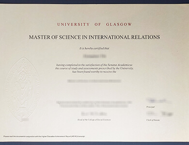 How to buy a fake University of Glasgow certificate? 格拉斯哥大学GLAS证书购买