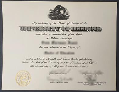Where to get a fake University of Illinois Urbana-Champaign degree in Chicago? 怎样快速获得伊利诺伊大学香槟分校UIUC学位证书?
