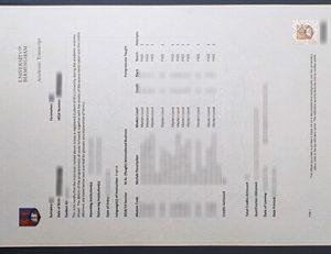 Birmingham University transcript 伯明翰大学成绩单