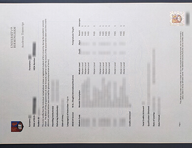 Order Birmingham University transcript, 在线订制伯明翰大学成绩单
