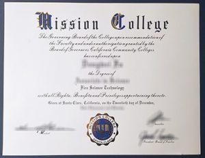 Mission College degree 宣教学院毕业证